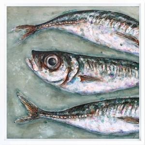 Three Large Mackerel Scad,