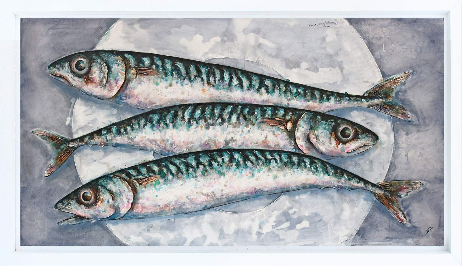 Three Mackerel On A Plate