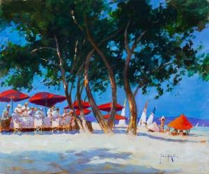 Red Umbrellas, Mallorca,
