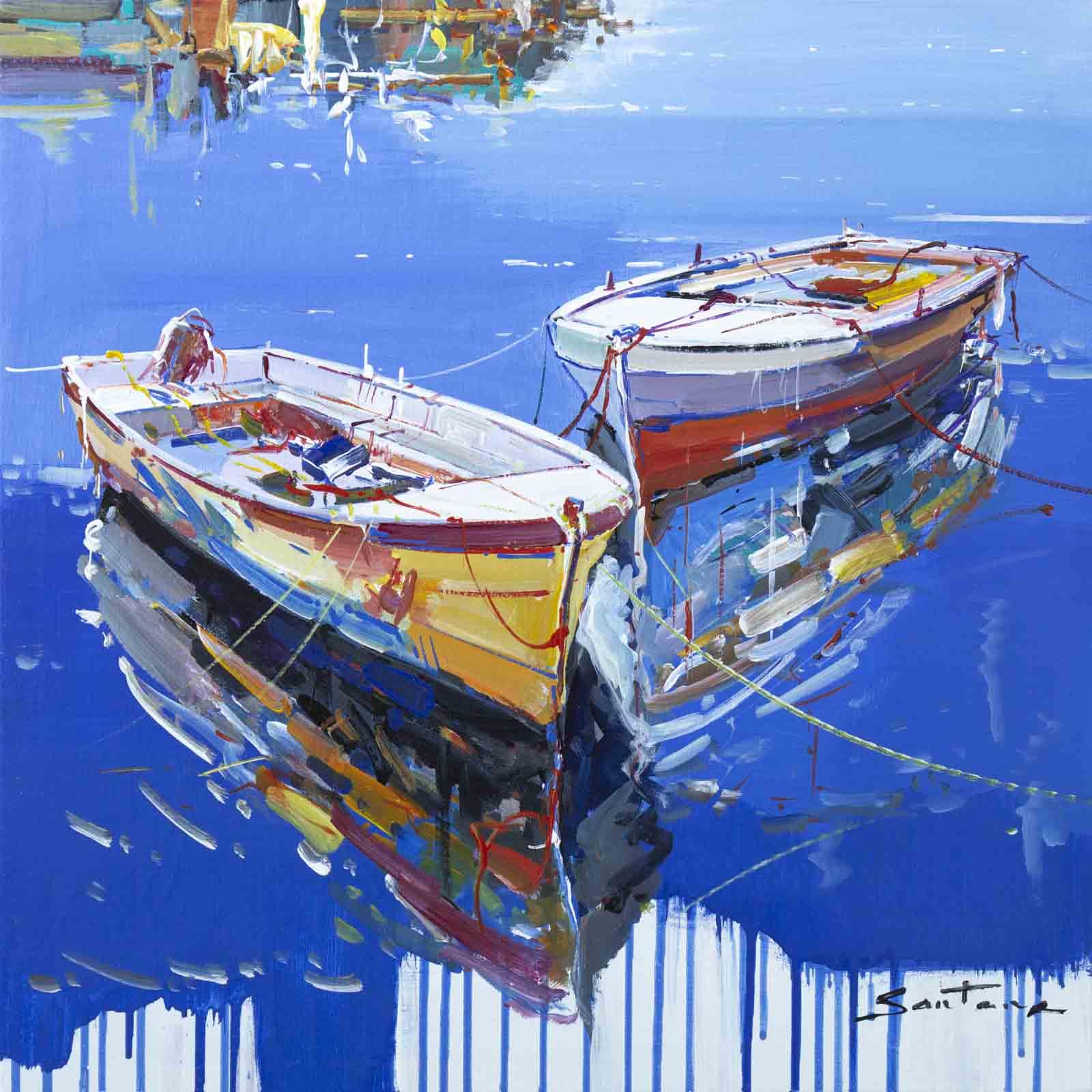 Yellow & Red Boats, Francisco Santana