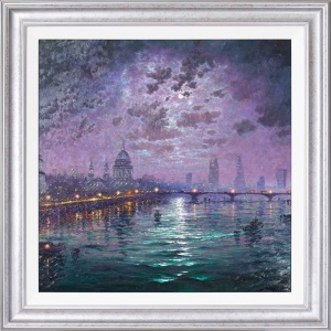 Moonlight Sparkle Across the Thames,