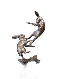 Small Hares Boxing,