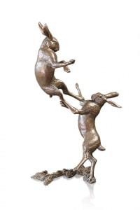 Medium Hares Boxing,