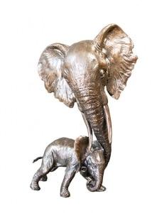 Elephant Mother & Calf,
