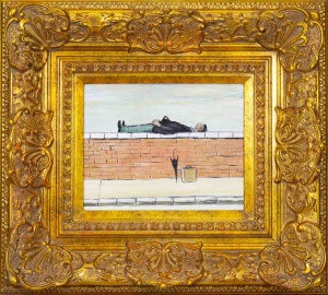 Man on Wall after L.S.Lowry,