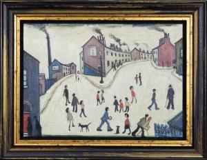 Street Scene after L.S.Lowry,