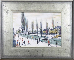 Bourton on the Water Cotswold after L.S.Lowry,