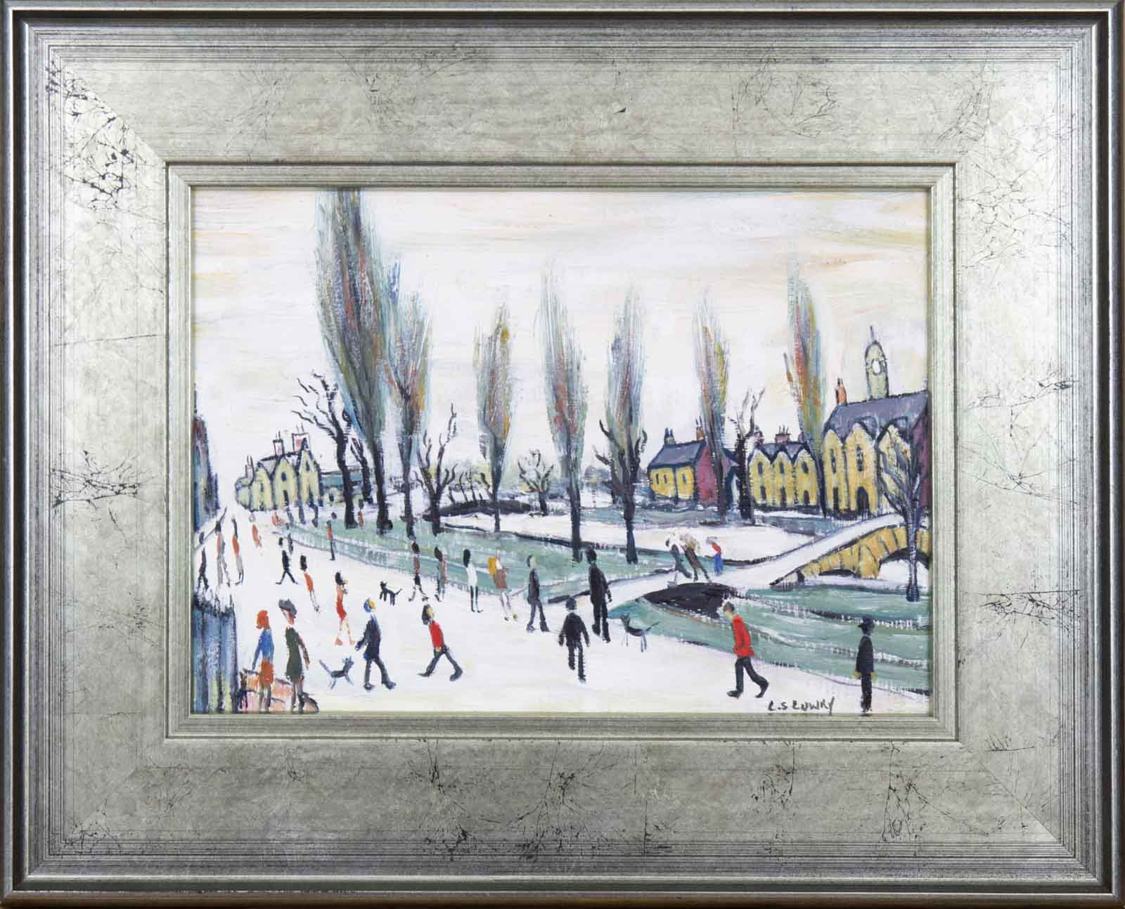 Bourton on the Water Cotswold after L.S.Lowry