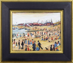 Beach Scene II after L.S.Lowry,
