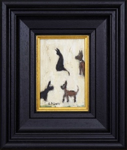 Cats and Dogs after L.S.Lowry,