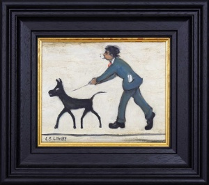 Man Walking Dog after L.S.Lowry,