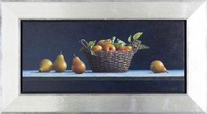 Pears In A Basket,