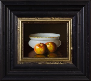 Two Apples With Bowl,