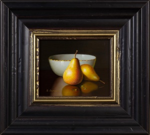 Two Pears And Bowl,