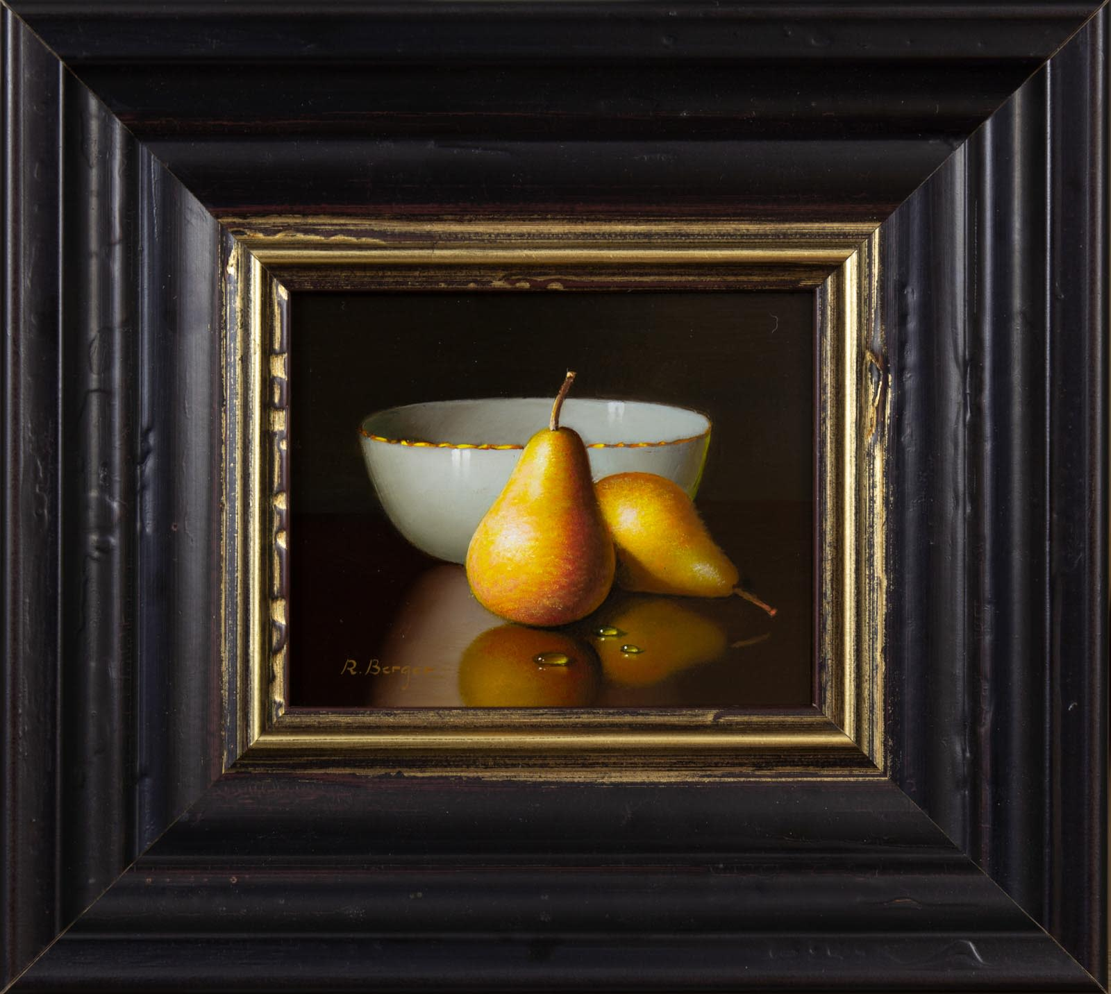 Two Pears And Bowl