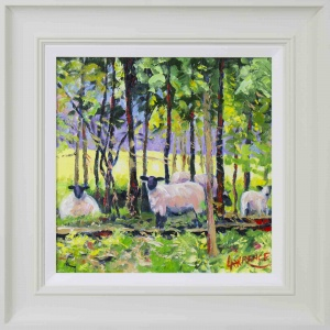 Sheep In The Glade,