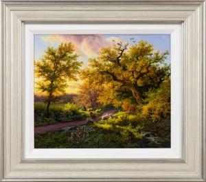 Sun Setting on the Old Oak Tree,